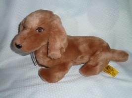 "24K IKC DACHSUND Plush Dog brown 13""L 9""H NWOT Registration Tag 1985 - $148.49"