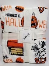 Peanuts Berkshire Halloween Blanket VelvetSoft Throw Great Pumpkin Snoop... - $34.99