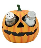 Ebros Spooky Halloween Pumpkin Salt and Pepper Shakers Set Figurine Hold... - $19.75