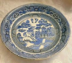 "Societe Ceramique Holland Pottery Blue Willow Pattern Bowl 9 1/2"" image 1"
