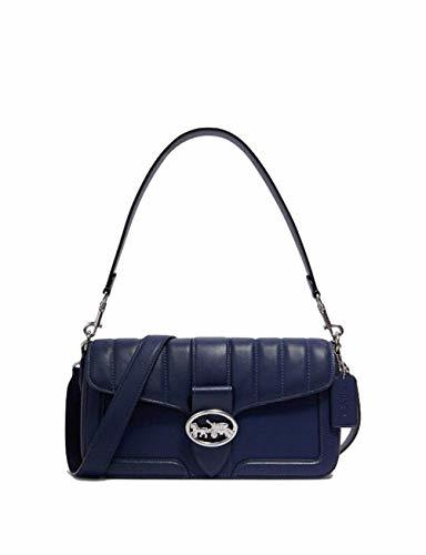 Coach Women's Georgie Shoulder Bag (SV/Cobalt) Purse