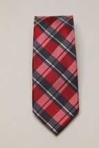 Club Room Invitation Plaid Red/Navy  Skinny Tie MSRP $49.50 - $17.82