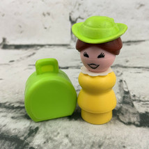 Vintage Fisher Price Little People Replacement Western Town Woman Green Hat - $19.79