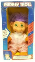 "Audrey Troll Doll Electronic Lights Up 10"" Vintage Original Box Purple G... - $49.49"