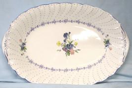 "Nikko Blue Peony Oval Platter 14"" - $25.63"