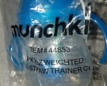 Munchkin Click Lock Weighted Flexi-Straw Cup, Blue 7 oz