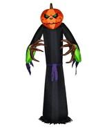 Halloween Gemmy 8 ft Pumpkin Scarecrow Airblown Inflatable Lights Up NEW... - $83.86
