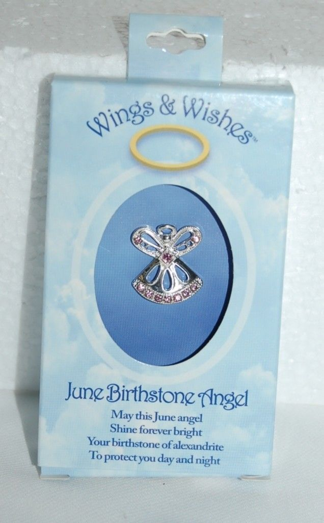 DM Merchandising Wings Wishes WGW06 June Birthstone Agnel