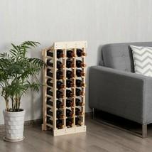 Wood Wine Rack Storage Display Shelf Free Standing - £55.96 GBP