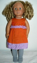 "Battat Our Generation Doll 18"" blond hair blue eyes in orange & purple outfit - $23.76"