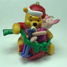 WINNIE POOH CHRISTMAS ORNAMENT Walt Disney figurine holiday piglet rocki... - $19.75