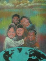 """RARE Original S/N 2002 Chisseko Kondowe """"HANDS"""" Kenya Young Pastel Art P... - $299.00"""