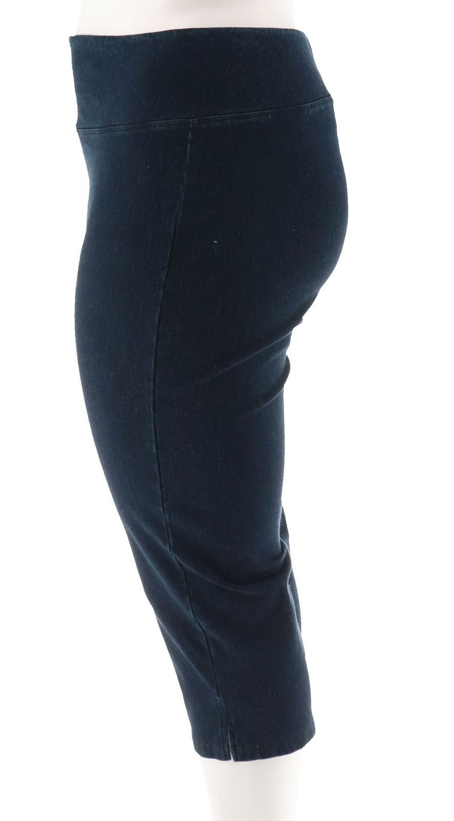 Women with Control Tummy Control Stretch Crop Jeans Indigo PM NEW A306461 image 2