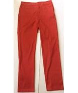 H&M Conscious Collection Shiny Orange Pants Size 10 Skinny Mod Clubbing ... - $24.74