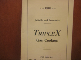 Triples Gas Cooker Original Vintage Brochure, 1912, RARE - $15.00