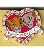 Simba & Nala In Heart Authentic Disneyland Valentine's Day  2002 - $39.99