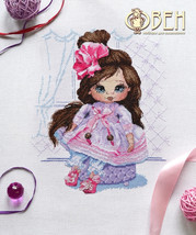 Cross Stitch Hand Embroidery Kit Cute Dasha Doll - $16.78