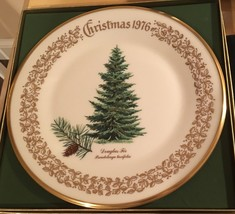"Lenox Limited Christmas 1976 Commemorative Issue Douglas Fir Plate 10""  - $9.89"