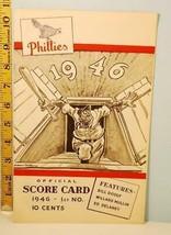 1946 Philadelphia Phillies Baseball Scorecard vs New York Giants May 30 - $29.21