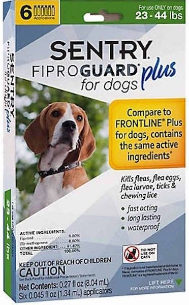 Sentry 6 Count Fiproguard Plus For Dogs Squeeze-on (23-44 pound)