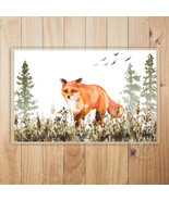 Fox Placemat, Watercolor Nature Scene Laminated Placemat, Decorative Tab... - $13.86