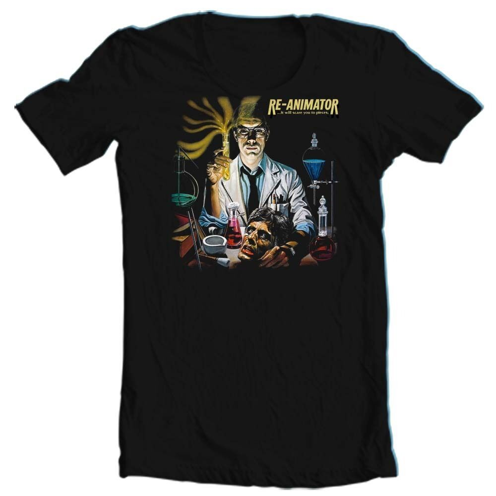 Re-Animator t-shirt retro 80s 70s horror film movie tee  H.P. lovecraft