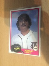 #291 Aurelio Lopez Pitcher Tigers Topps Baseball Card 1981 1A - $1.90