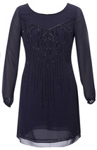 "COAST Ellie Beaded Midnight Blue Dress BNWT """""" Very Rare """""" image 1"