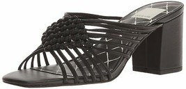 Dolce Vita Women's Delana Slide Sandal 8 Black Leather - £27.57 GBP
