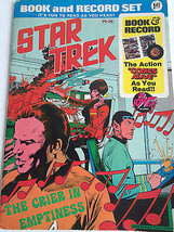 Vintage Star Trek Book & Record Set The Crier in Emptiness 1975 Audio Bo... - $50.66