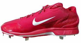 Nike Men Air Huarache Pro Low Metal Red White Baseball Cleats 599233 611 Size 16 - $29.95