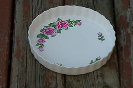Old Maybe Vintage Christineholm Pie Plate Quiche Cake Bakeware Flowers K... - $9.99