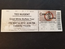 Ted Nugent Great White Buffalo Tour Full Concert Ticket May 4 2012 Rock ... - $5.74