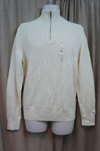 Tommy Hilfiger Mens Sweater Sz M Seed Pearl Half Zip Cotton Casual Sweater - €33,87 EUR