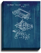 VCR Patent Print Midnight Blue on Canvas - $39.95+