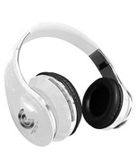 CTTEK Bluetooth Stereo HD Headphone with Carrying Case White - $19.59