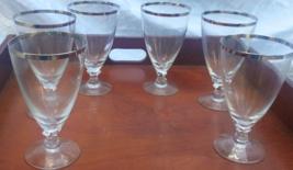 Fostoria Silver Trimmed Crystal  Goblets - $49.95