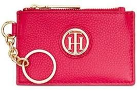 Tommy Hilfiger Nwt Lucky Charm Étiquette Rose Rose Cuir Id Porte-Monnaie... - $28.71