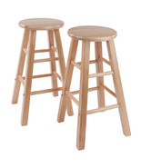 "Winsome Wood Contemporary Home 24"" Element Counter Stools, 2-Pc Set, Natural - $81.68"