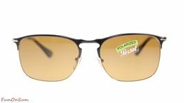 Persol Mens Sunglasses PO7359S 107057 Matte Black/Brown Polararized Pilo... - $198.85