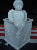Ceramic Angel Container - Potpourri / Soap / Trinket / Jewelry Etc Cheru... - $12.99