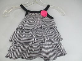 Carter's Baby Girl's Size 9M 100% Cotton Black and White Dress and Bloomer - $20.80