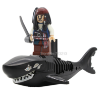 Lego Pirates of the Caribbean Black Zombie Shark With Jack Minifigure - $9.99