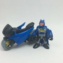 Batman and Bike Imaginext Figures DC Comics Fisher Price 3 inches  - $7.99