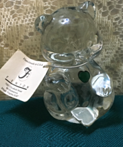 Vintage FENTON GLASS Birthstone Bear MAY BIRTHDAY Emerald Collectible - $14.00