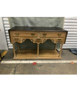Rustic Hickory Furniture Country French Oak Drop Leaf Server Buffet - $594.00
