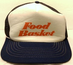 Vintage Food Basket Stores Mesh Trucker Hat Grocery Lucky Stores California - $42.07