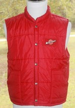 Swingster Size Large Puffer Vest Men's Hipster Red Manitowoc WI Made In ... - $35.62