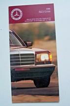 1986 mercedes 560sl 560sec owners price card sales brochure w107 w126 or... - $34.64