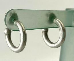 Vintage Sterling Silver Huggie Hoop Earrings, Hallmarked MUS - $23.74